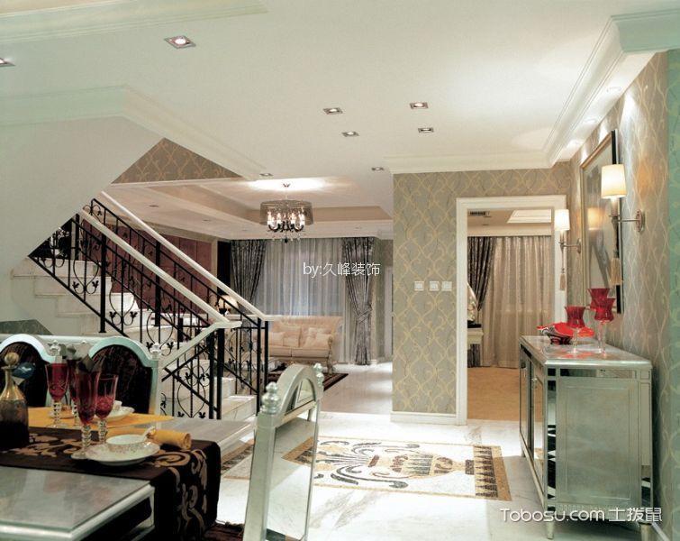 餐厅白色走廊欧式风格装饰效果图