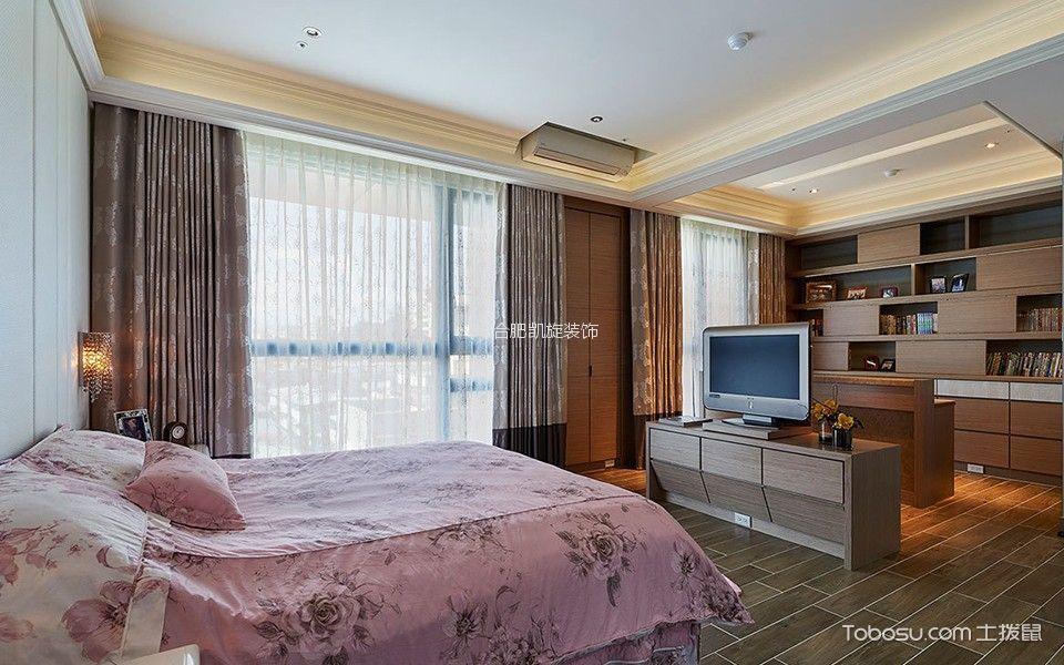卧室咖啡色隔断混搭风格装饰设计图片