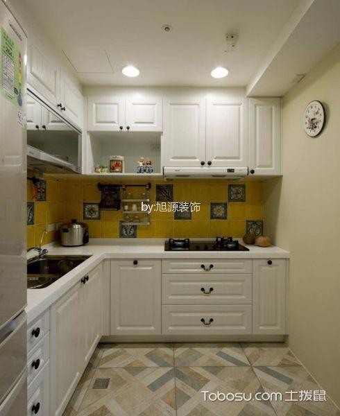 厨房白色橱柜简单风格装饰设计图片