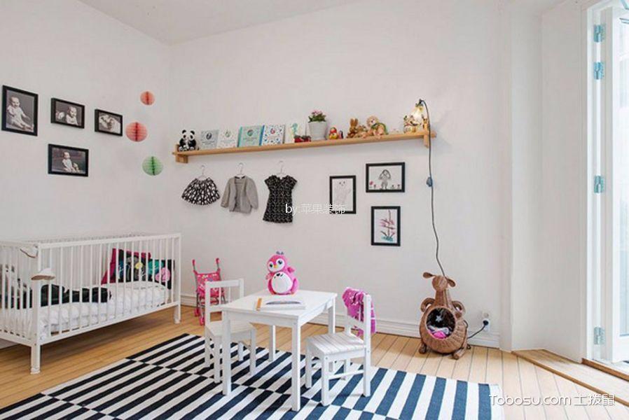 儿童房白色床北欧风格装修图片