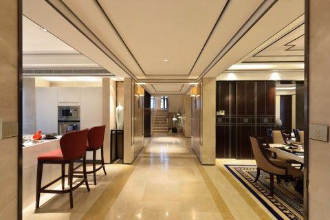 180平复式楼中式风格家装效果图
