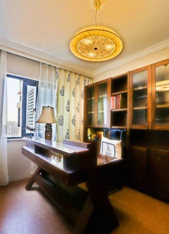 书房窗帘混搭风格装饰设计图片