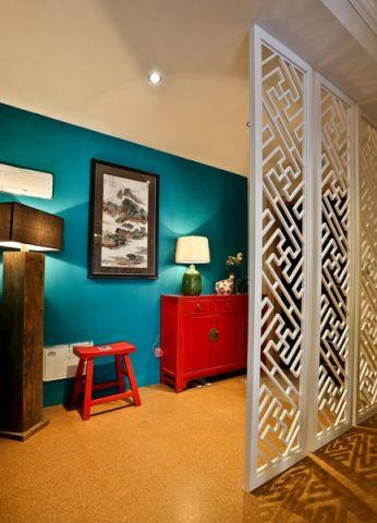 玄关照片墙混搭风格效果图