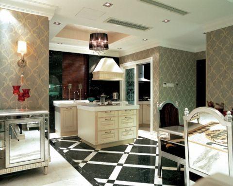 厨房吧台欧式风格装修效果图