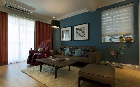 聚湖半岛美式风格三居室效果图