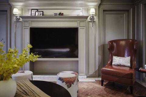 银泰城台式110平古典三居室效果图