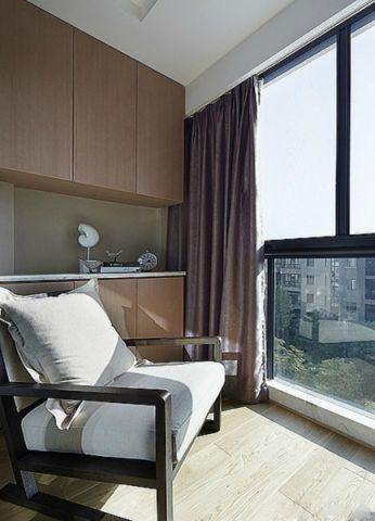 阳台窗台现代简约风格装潢效果图