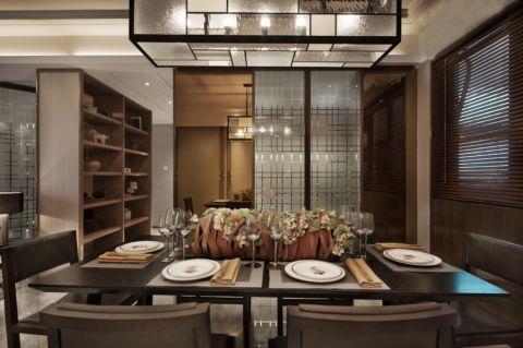 餐厅走廊新中式风格装饰效果图