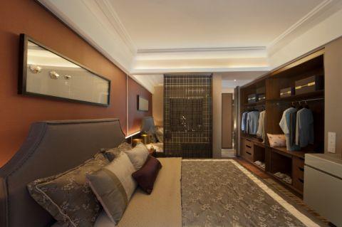 卧室吊顶新中式风格装饰设计图片