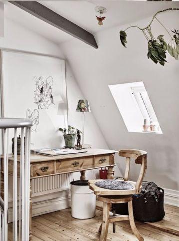 书房吊顶北欧风格装潢图片
