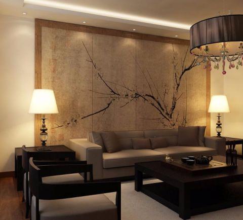 金地紫云庭-165三居室新中式风格装修案例