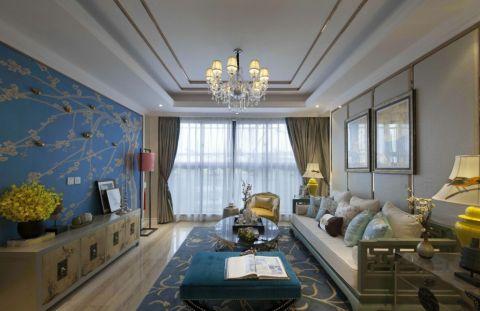 5.7万预算120平米三室两厅装修效果图