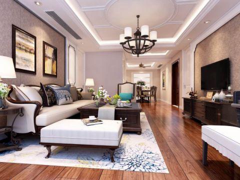 美式风格三居室效果图