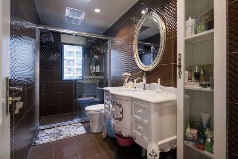 卫生间推拉门混搭风格装潢图片