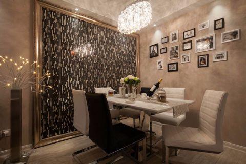 餐厅照片墙混搭风格装潢效果图