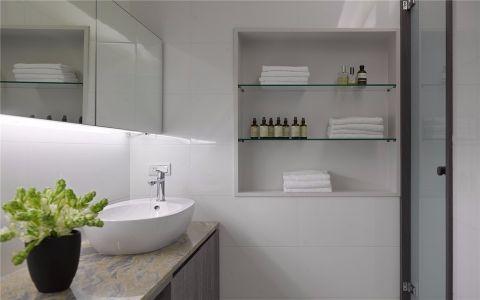 卫生间背景墙现代风格装潢图片