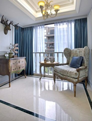 阳台窗帘法式风格效果图