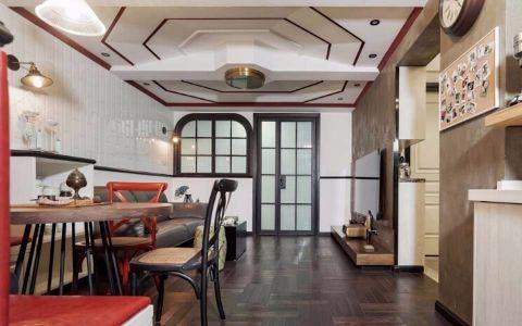 100平混搭风格二居室装修效果图