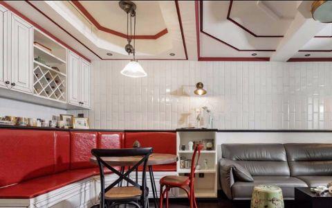 餐厅博古架混搭风格装修设计图片