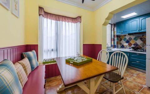 82平地中海风格二居室装修效果图