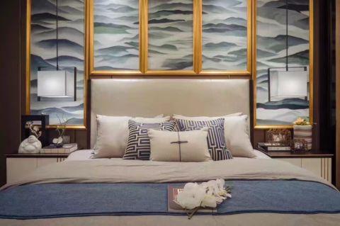 卧室背景墙中式风格装饰图片