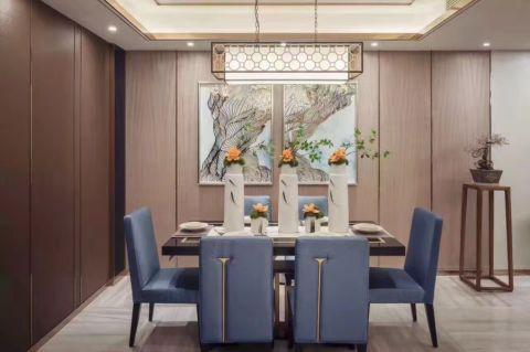 120平米中式风格三居室效果图
