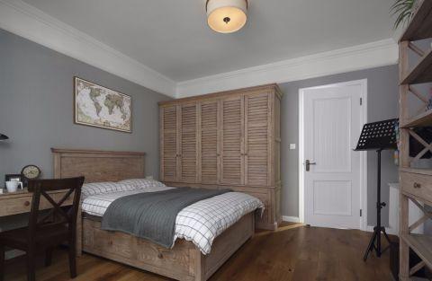 卧室博古架美式风格效果图