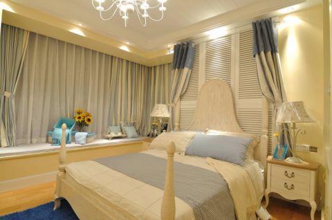 卧室飘窗地中海风格装潢设计图片