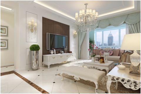 御湖观邸130平欧式风格三居室效果图