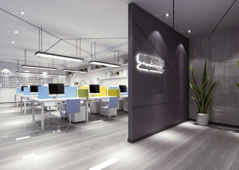 绿地新都汇简约风格办公室装修效果图