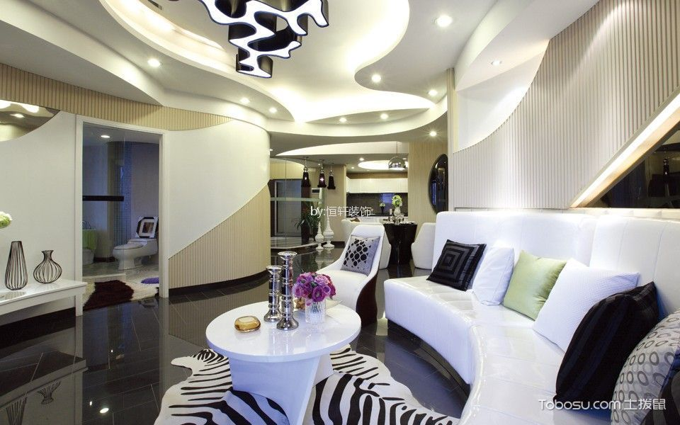 25万预算160平米两室两厅装修效果图