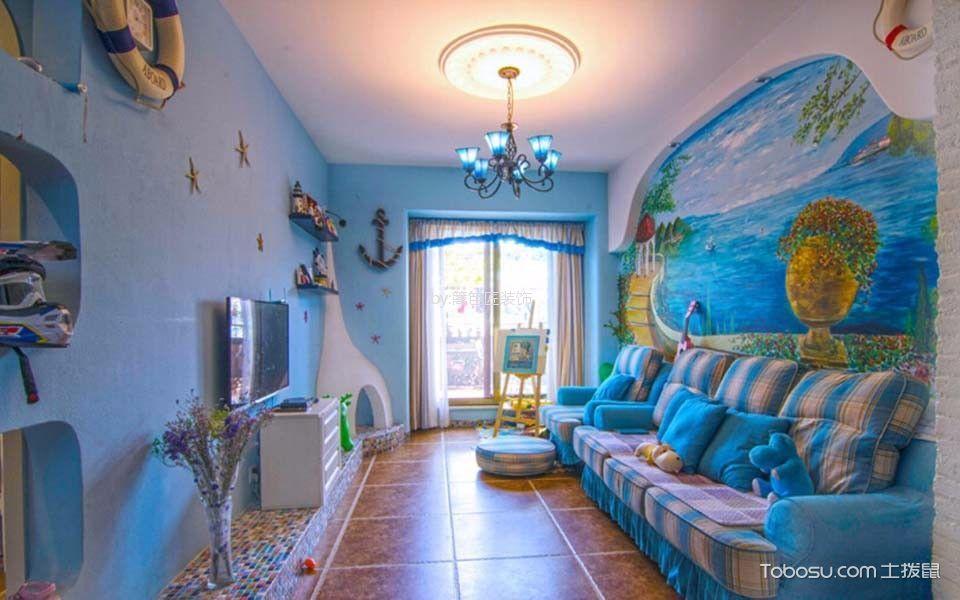 75平二居室地中海风格装修效果图