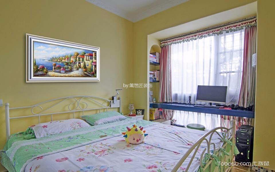 卧室 窗帘_75平二居室地中海风格装修效果图