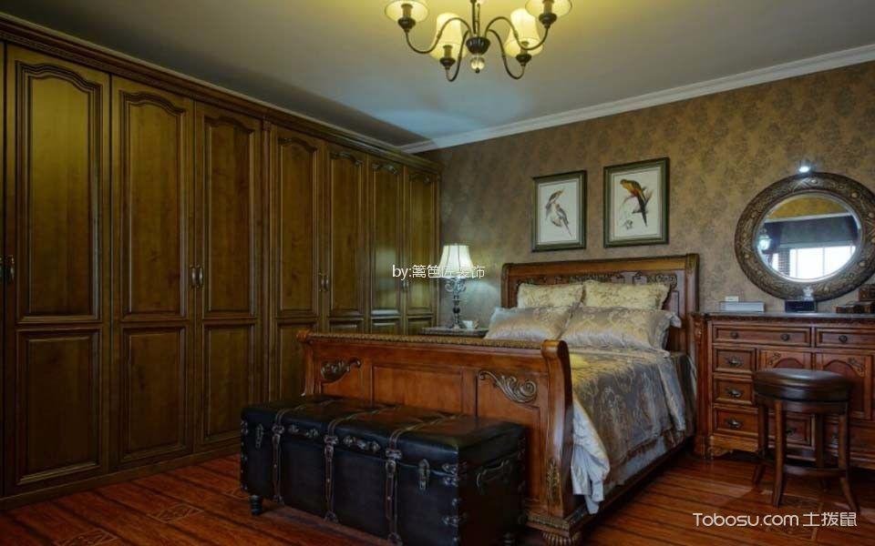 卧室咖啡色梳妆台新古典风格装饰设计图片