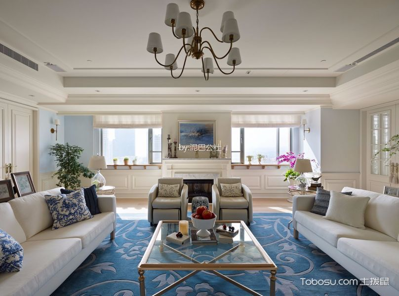 11万预算120平米三室两厅装修效果图