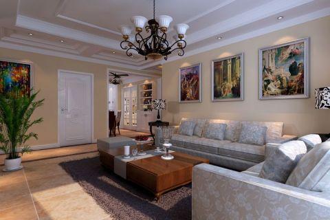 3.8万预算100平米三室两厅装修效果图
