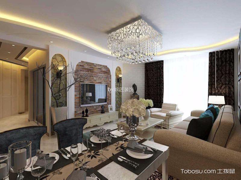 餐厅白色细节美式风格装潢设计图片
