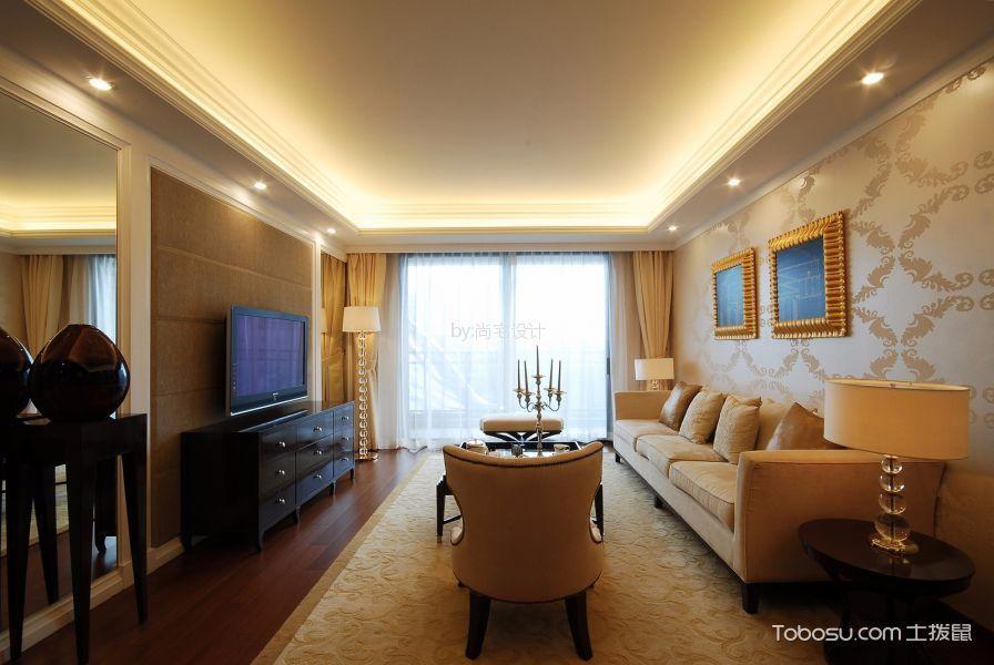 中海凤凰熙岸110㎡简欧风格三居室装修效果图