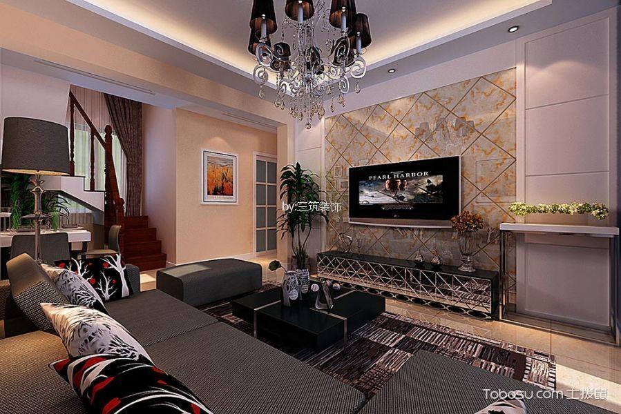 客厅 背景墙_7.9万预算120平米复式装修效果图图片