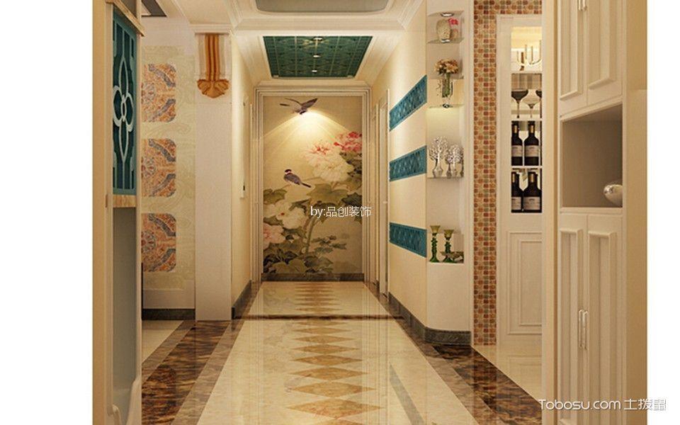 玄关 走廊_9万预算136平米三室两厅装修效果图