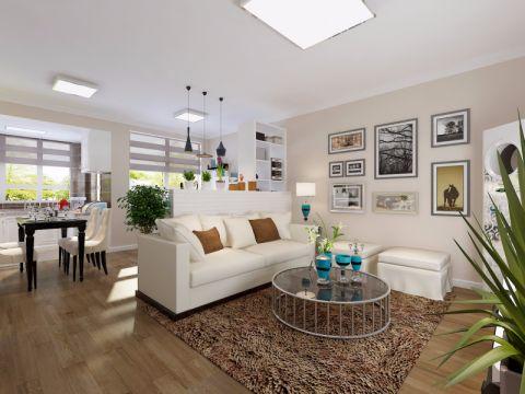 米罗湾88平二居室现代风格装修效果图