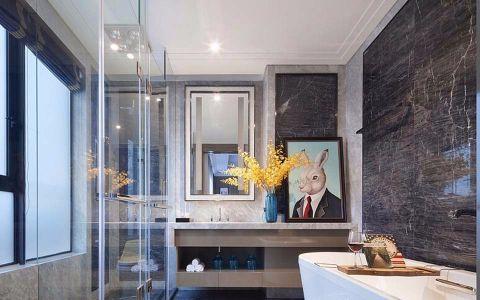 卫生间隔断简欧风格装饰图片