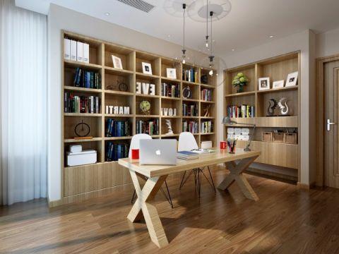 书房书桌现代简约风格装饰效果图