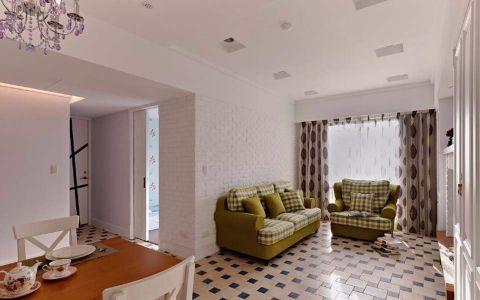 9万预算115平米三室两厅装修效果图