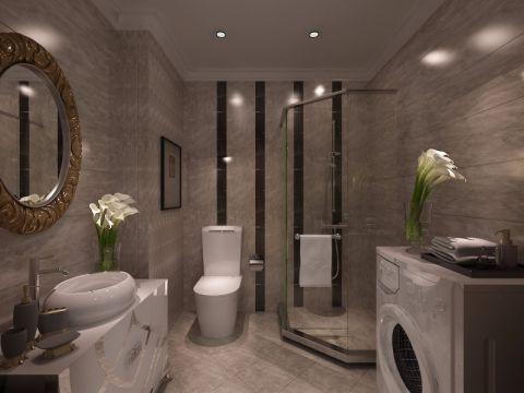卫生间隔断欧式风格装潢设计图片