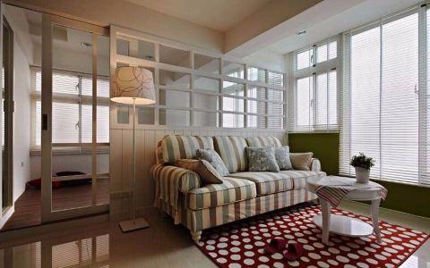 7万预算63平米两室两厅装修效果图