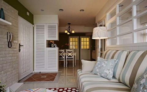 客厅走廊田园风格装饰图片
