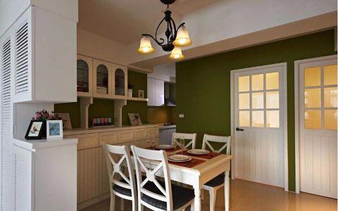 餐厅餐桌田园风格装潢图片