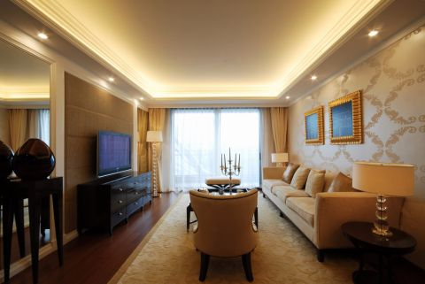 4.9万预算120平米三室两厅装修效果图