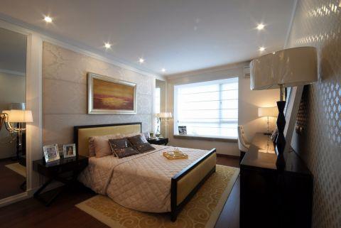 卧室飘窗简欧风格装潢效果图